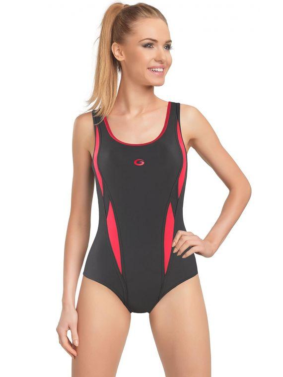 Kostium Kąpielowy Model Aqua I Grafit/Pink