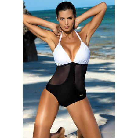 Kostium Kąpielowy Model Priscilla Bianco-Nero M-428 White/Black