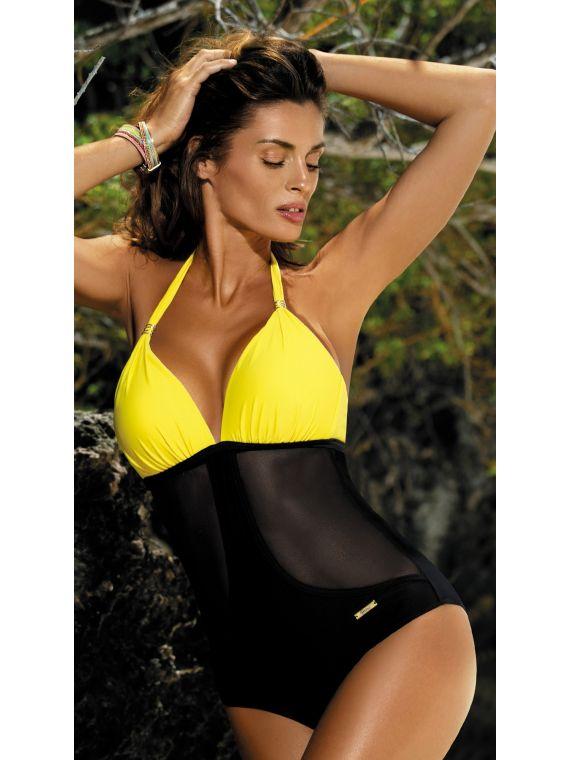 e58c5bd5db2c75 Kostium Kąpielowy Model Priscilla Banana-Nero M-428 Yellow/Black