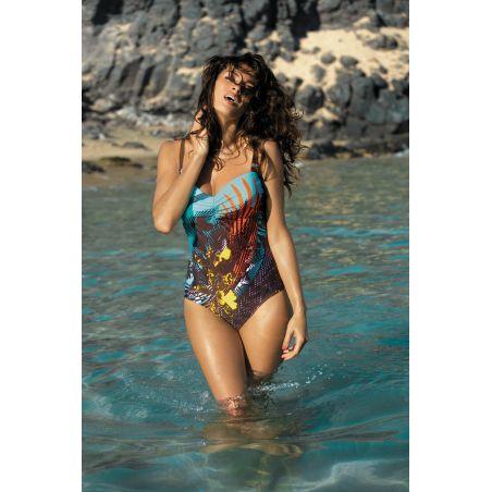 Kostium Kąpielowy Model Tetyana Martinica-Seppia M-328 Blue/Orange