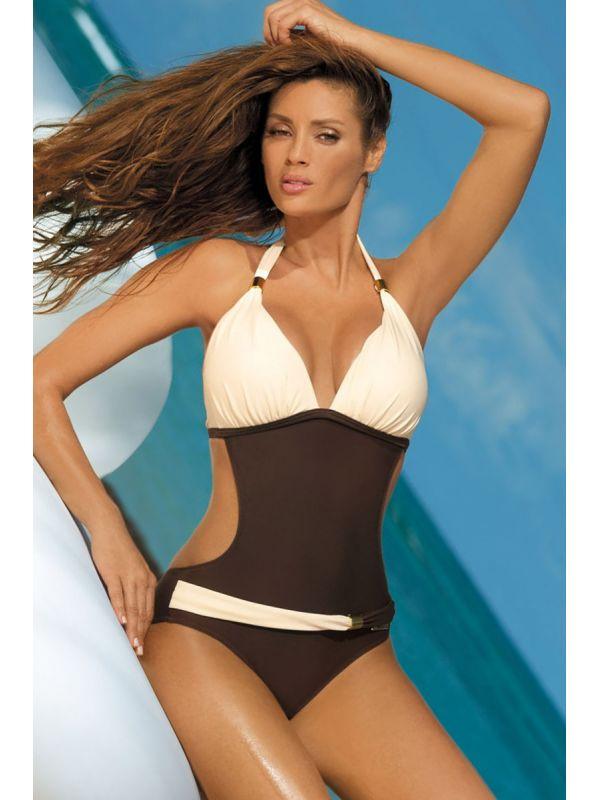 75d022a7f89e6e Kostium Kąpielowy Model Beatrix Moka-Avorio M-337 Pearl/Brown