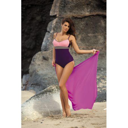 Kostium Kąpielowy Model Whitney Mora-Bon Ton-Fango M-253 Violet/Light Pink
