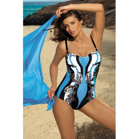 Kostium Kąpielowy Model Miriam Nero-Skipper M-329 Black/Sky Blue