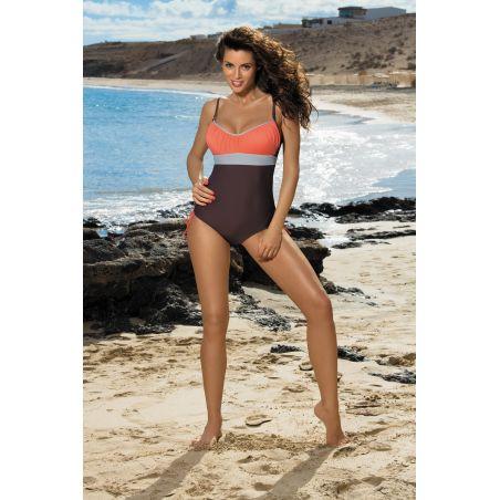 Kostium Kąpielowy Model Whitney Cubano-Semifredo-Mastice M-253 Brown/Coral