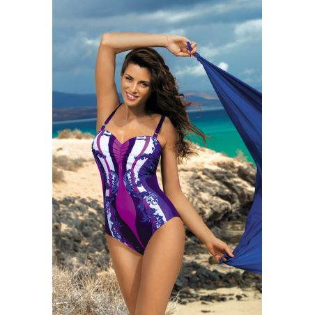 Kostium Kąpielowy Model Miriam Mora M-329 Bakłażan/Pink