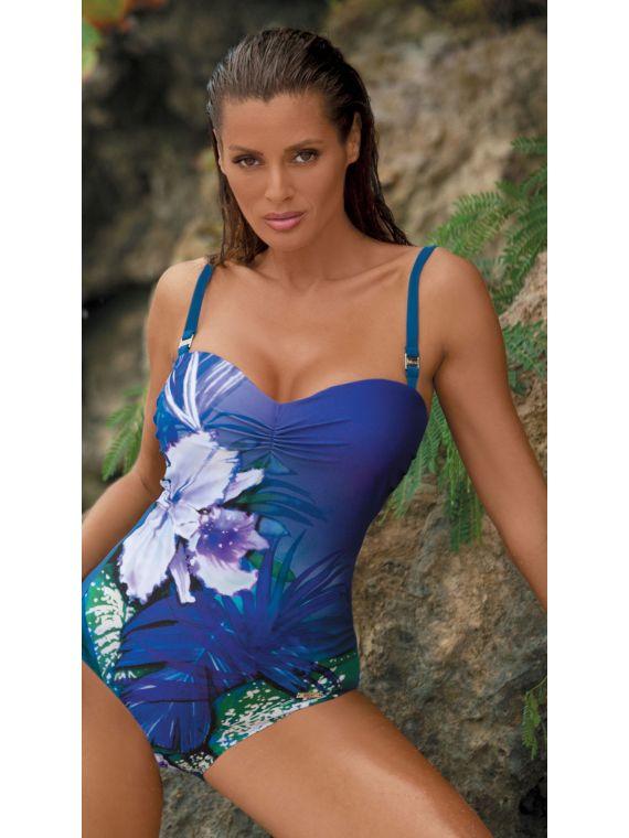 fa253a97e7cb88 Kostium Kąpielowy Model Nicole Royal Blue M-378 Violet